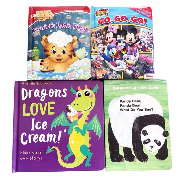 Toddler and Baby Board Books Bundle (4) Mickey